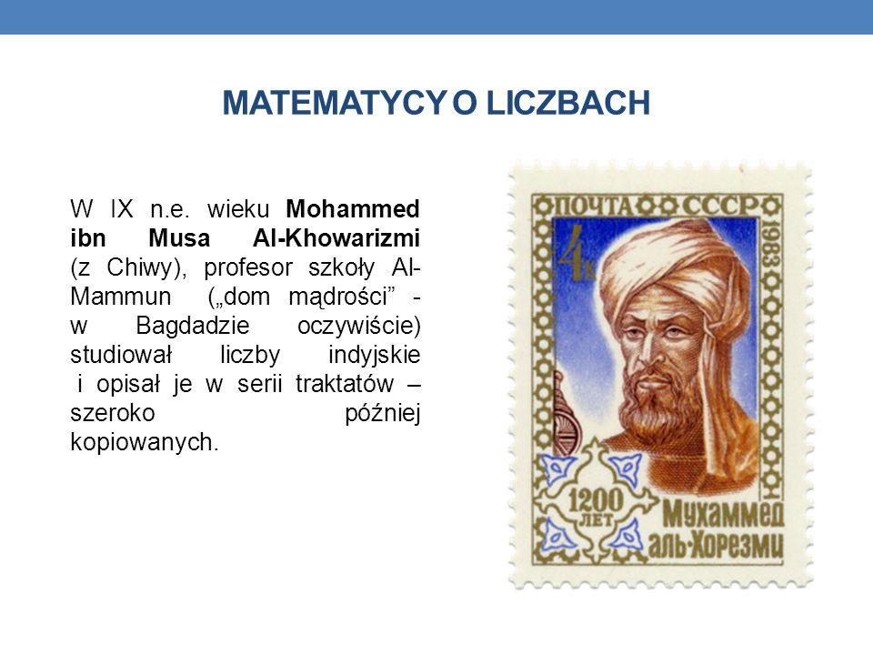MATEMATYCY O LICZBACH W IX n.e.