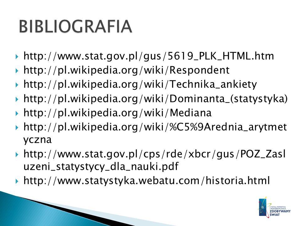http://www.stat.gov.pl/gus/5619_PLK_HTML.htm http://pl.wikipedia.org/wiki/Respondent http://pl.wikipedia.org/wiki/Technika_ankiety http://pl.wikipedia