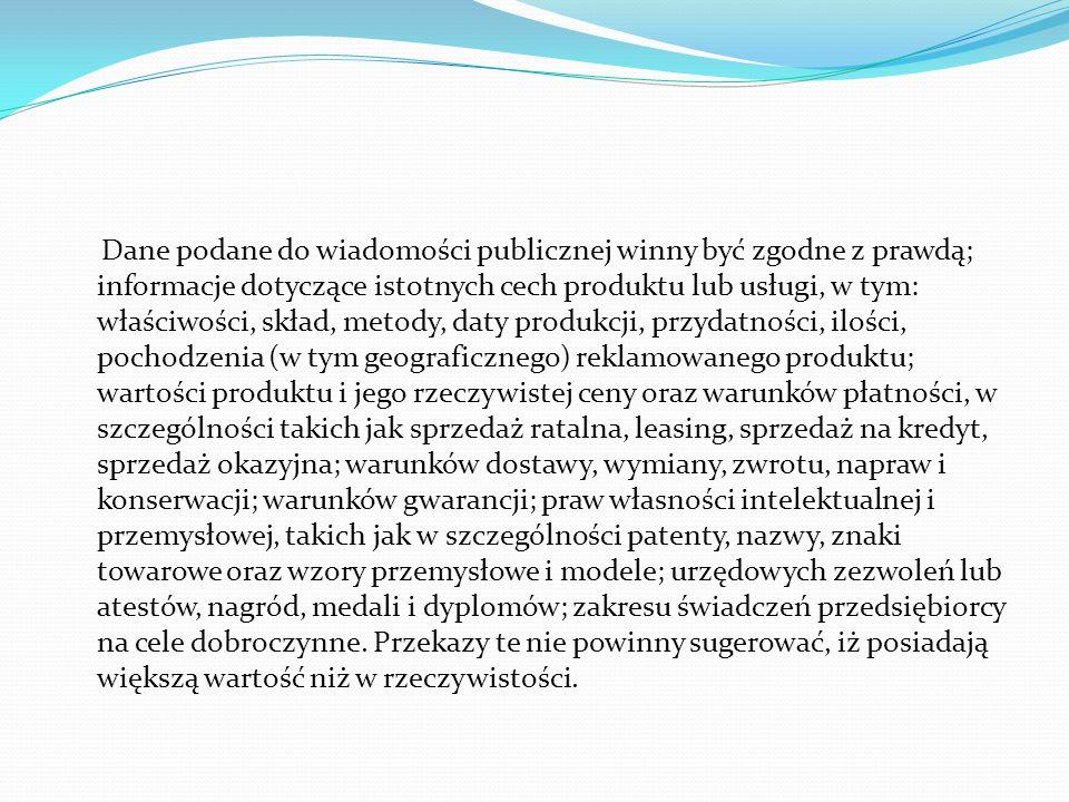 IV. PODSTAWOWE ZASADY Kodeks etyczny reklamy stanowi zbiór zasad, jakimi powinni kierować sie przedsiębiorcy oraz osoby zajmujące sie działalnością ma