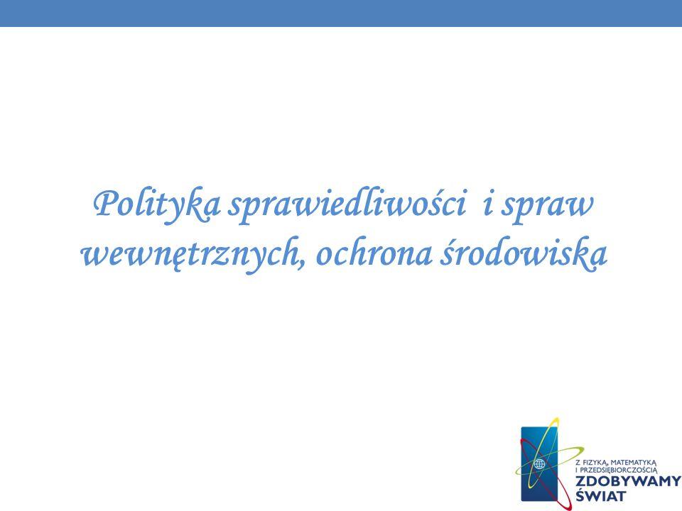 Polityka sprawiedliwości i spraw wewnętrznych, ochrona środowiska