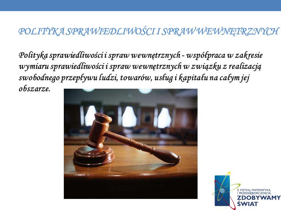 Polityka sprawiedliwości i spraw wewnętrznych - współpraca w zakresie wymiaru sprawiedliwości i spraw wewnętrznych w związku z realizacją swobodnego p