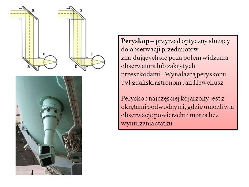 Peryskop – przyrząd optyczny służący do obserwacji przedmiotów znajdujących się poza polem widzenia obserwatora lub zakrytych przeszkodami.. Wynalazcą
