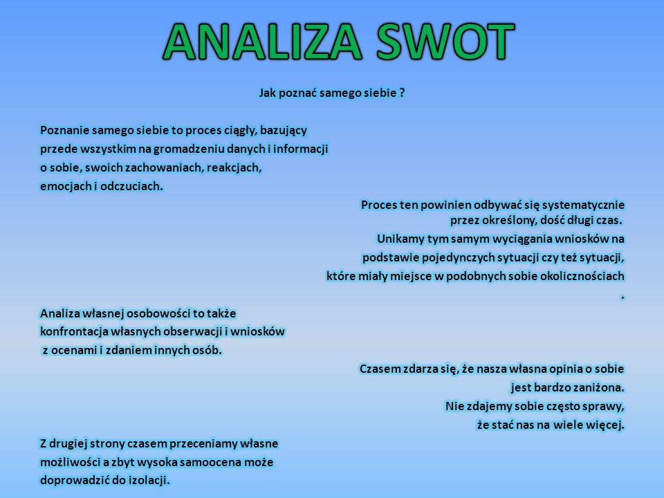 Jak wykonać analizę SWOT .