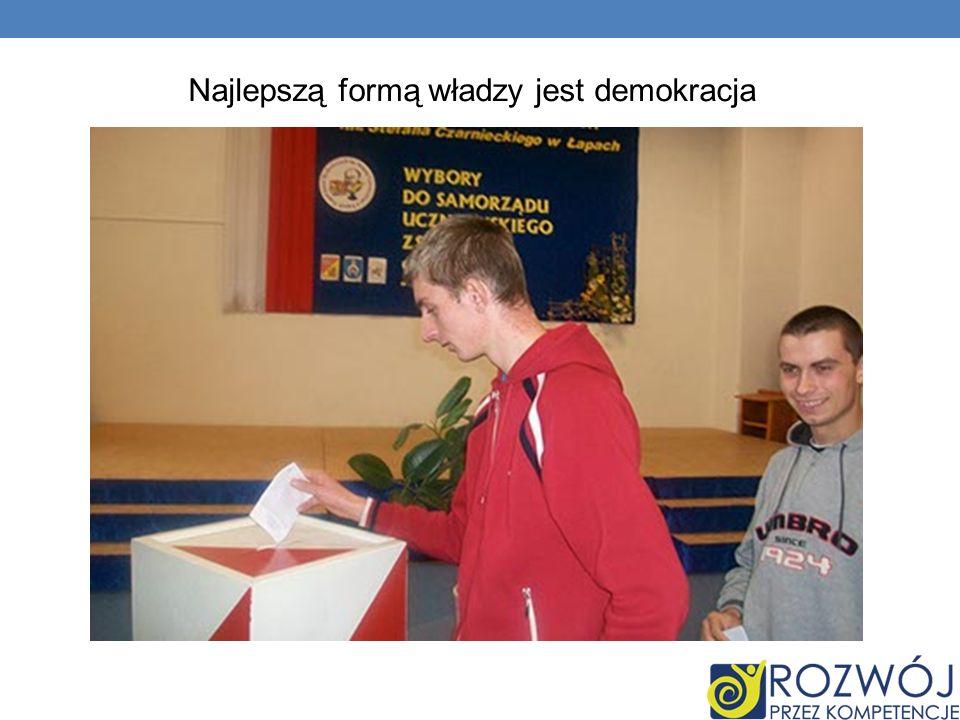 W ustroju demokratycznym władza podzielona jest pomiędzy trzy filary: