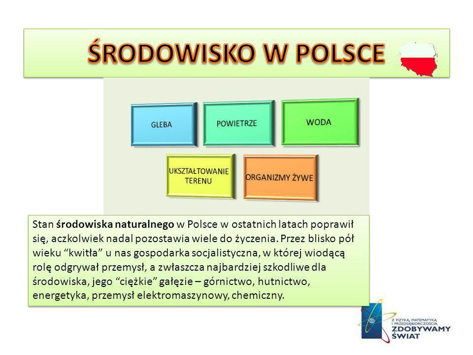 Stan środowiska naturalnego w Polsce w ostatnich latach poprawił się, aczkolwiek nadal pozostawia wiele do życzenia. Przez blisko pół wieku kwitła u n