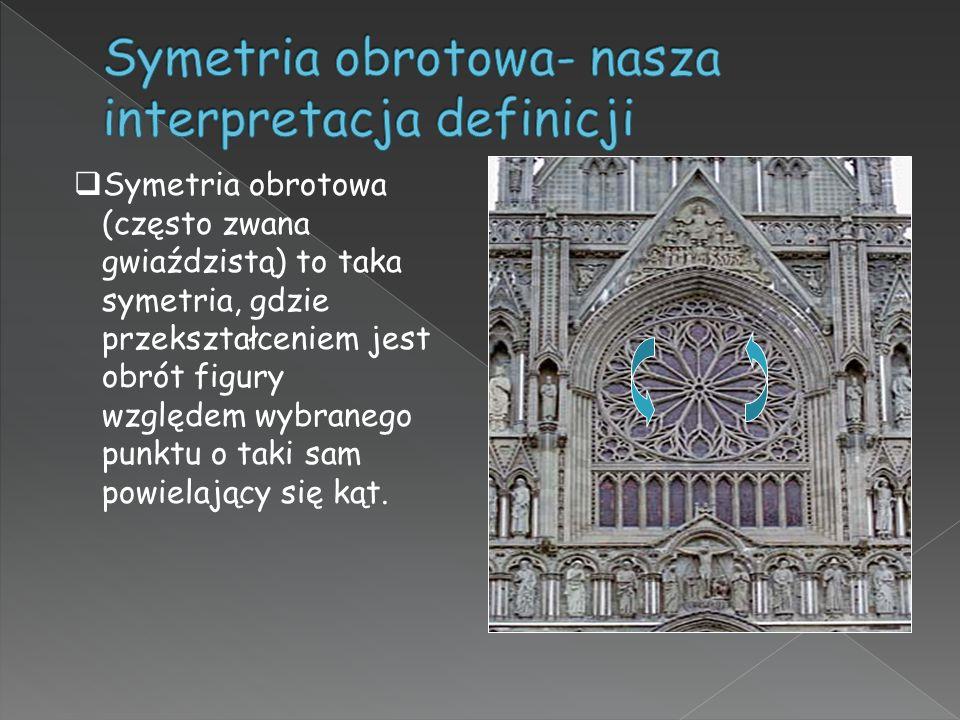 przekształcenie przestrzeni będące przemiennym złożeniem symetrii płaszczyznowej i obrotu; zachodzi jedynie wtedy, gdy oś obrotu jest prostopadła do p