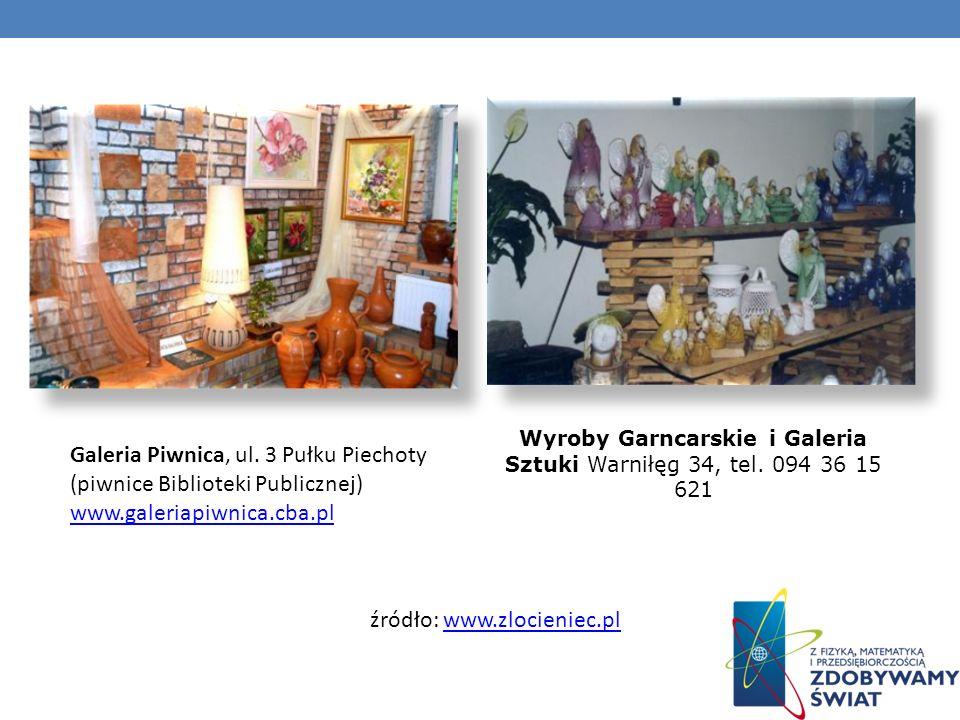 Galeria Piwnica, ul. 3 Pułku Piechoty (piwnice Biblioteki Publicznej) www.galeriapiwnica.cba.pl www.galeriapiwnica.cba.pl Wyroby Garncarskie i Galeria