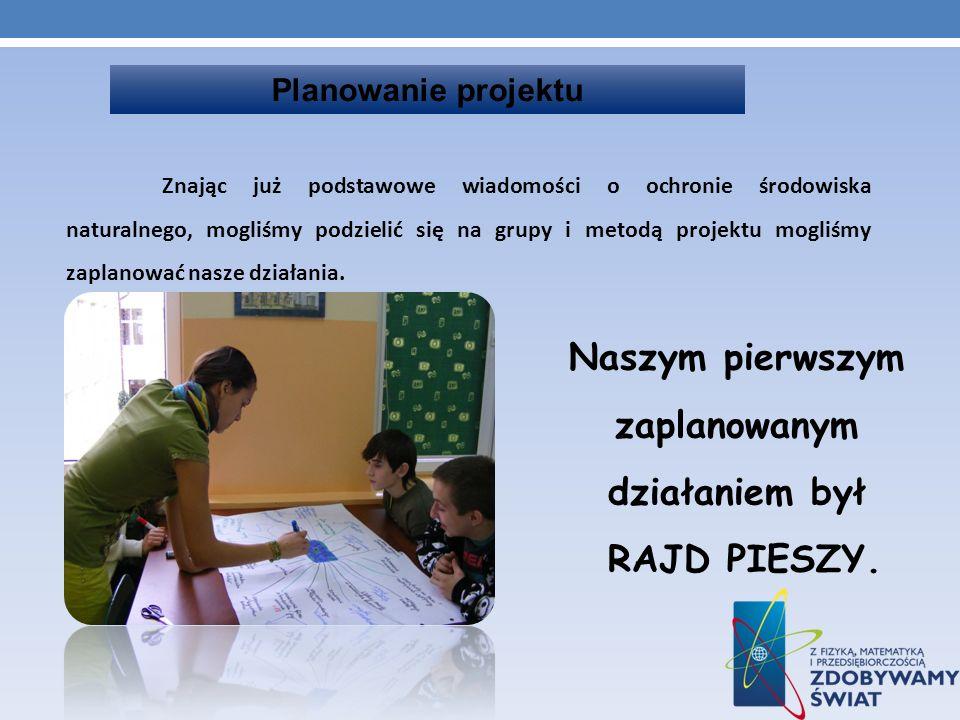 RAJD PIESZY CZAS ZACZĄĆ Rajd rozpoczął się w Karwicach, gdzie uczniowie poznali historię tej osady i legendę związaną z pałacem.