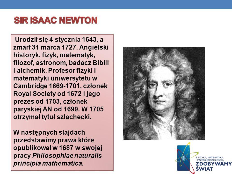 Urodził się 4 stycznia 1643, a zmarł 31 marca 1727. Angielski historyk, fizyk, matematyk, filozof, astronom, badacz Biblii i alchemik. Profesor fizyki