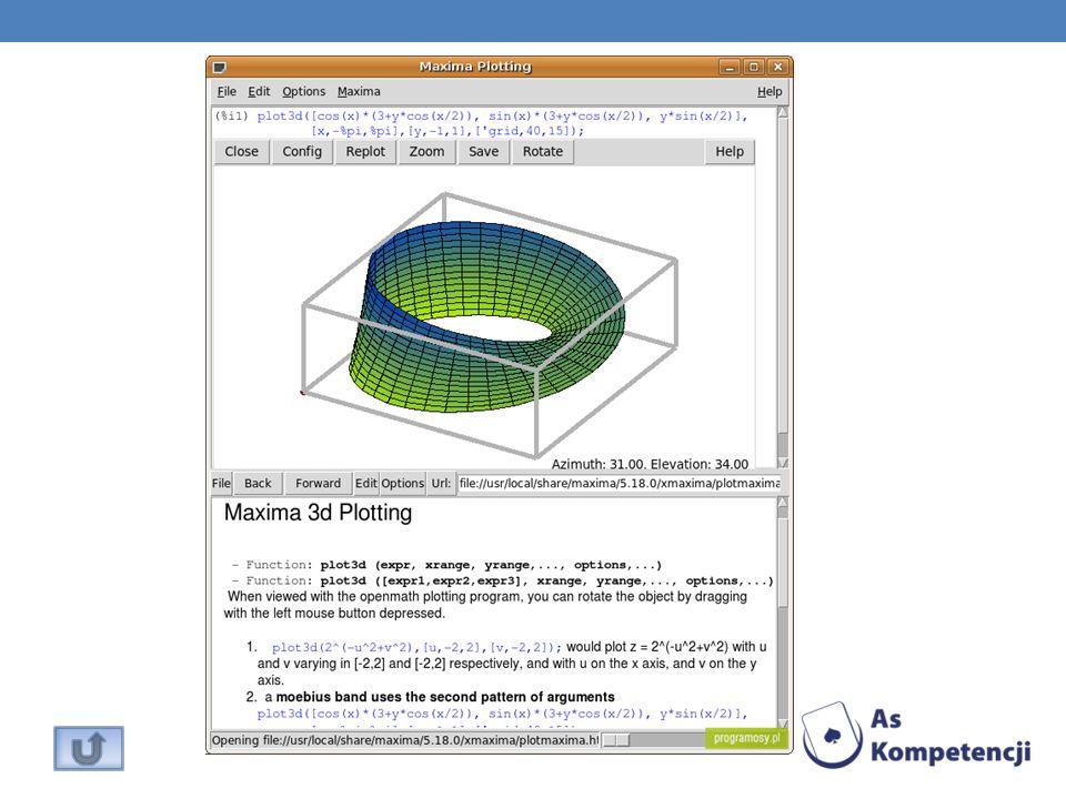 Program umożliwiający tworzenie skomplikowanych formuł matematycznych.