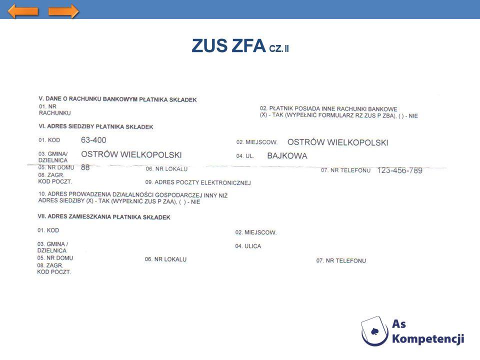 ZUS ZFA CZ. II