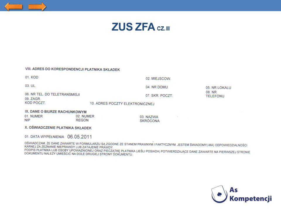 ZUS ZFA CZ. III