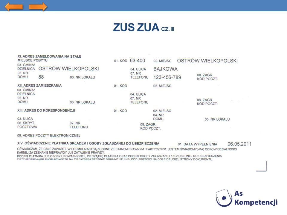 ZUS ZUA CZ. III