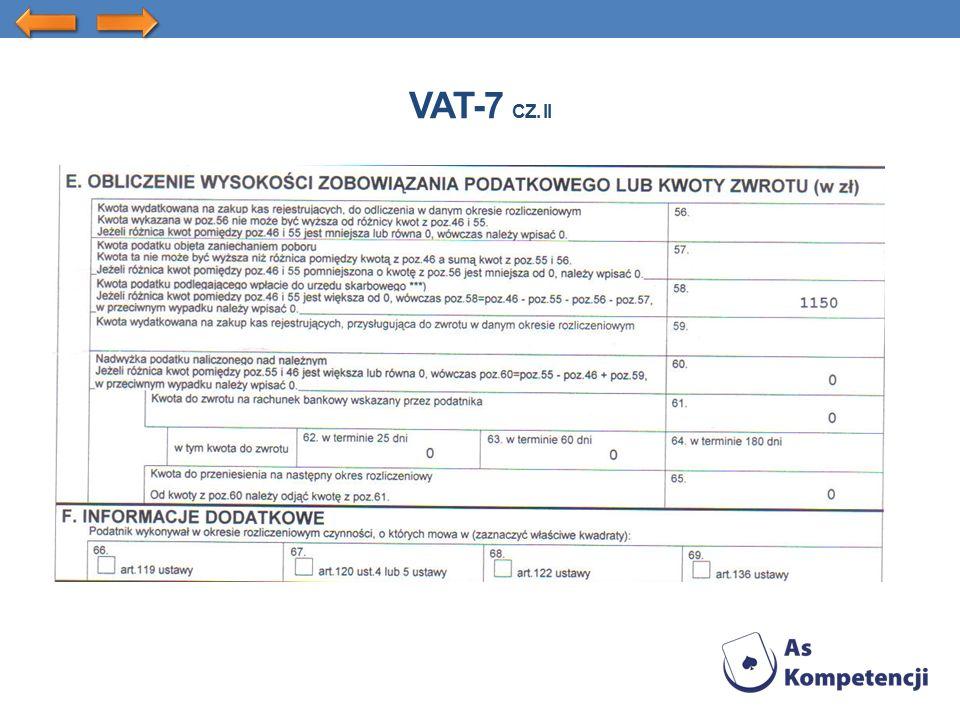 VAT-7 CZ. II