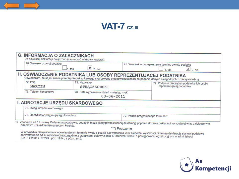 VAT-7 CZ. III