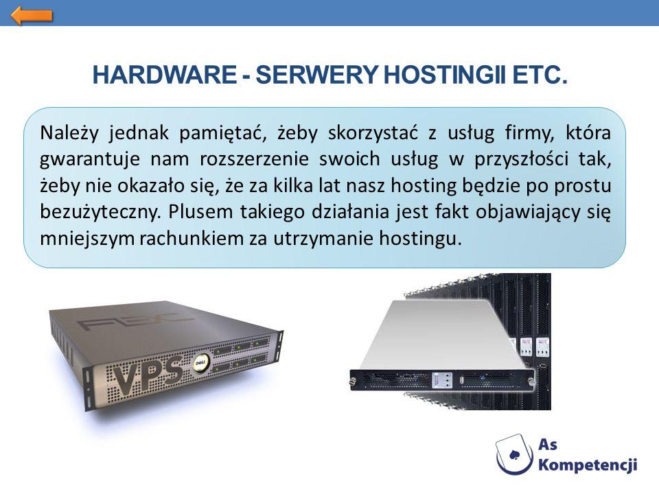 Należy jednak pamiętać, żeby skorzystać z usług firmy, która gwarantuje nam rozszerzenie swoich usług w przyszłości tak, żeby nie okazało się, że za kilka lat nasz hosting będzie po prostu bezużyteczny.