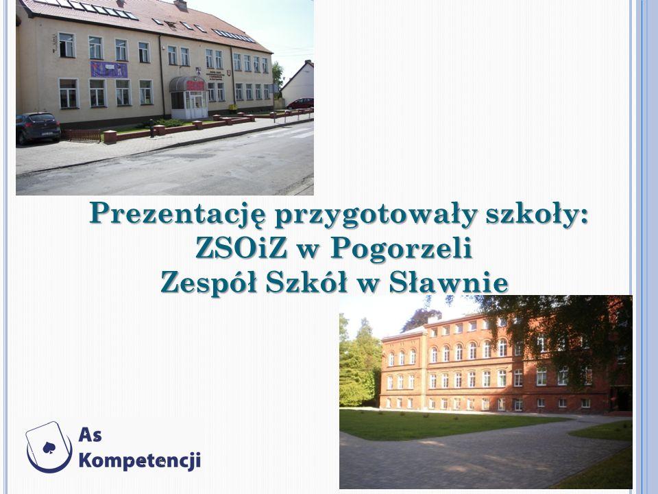 Prezentację przygotowały szkoły: Prezentację przygotowały szkoły: ZSOiZ w Pogorzeli Zespół Szkół w Sławnie