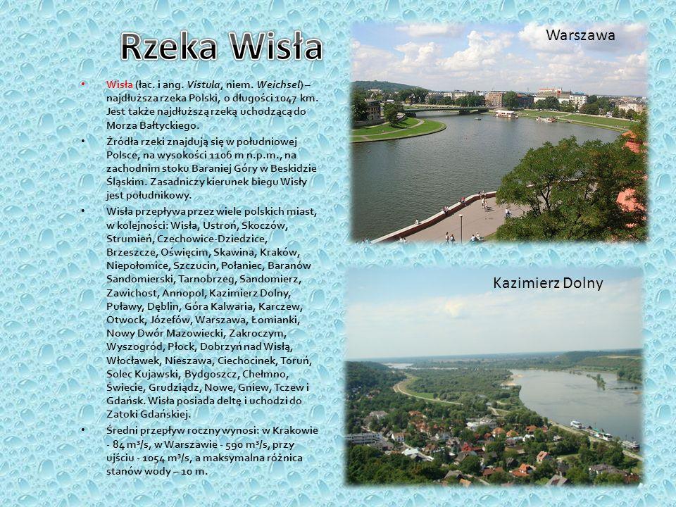 Wisła (łac. i ang. Vistula, niem. Weichsel) – najdłuższa rzeka Polski, o długości 1047 km. Jest także najdłuższą rzeką uchodzącą do Morza Bałtyckiego.