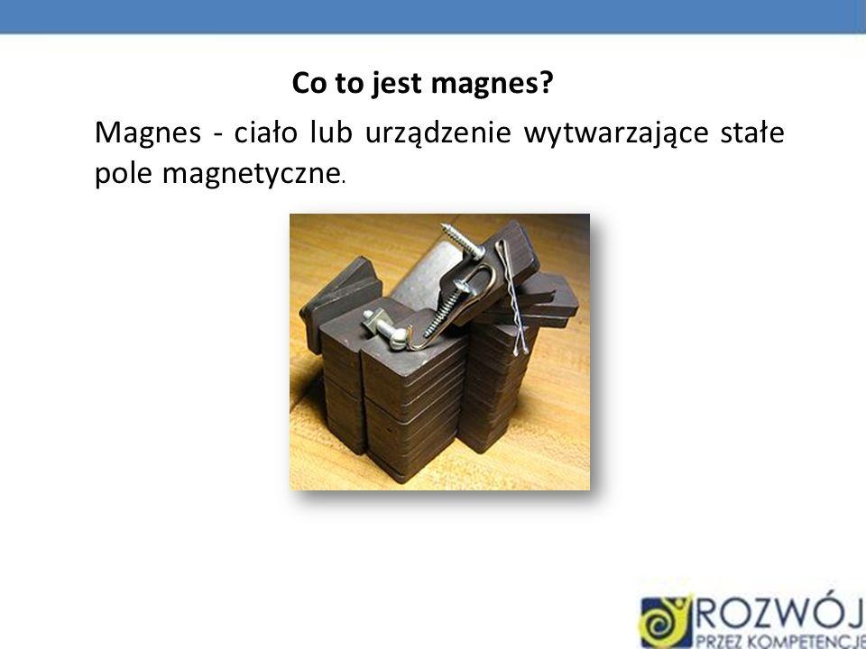 Magnes - ciało lub urządzenie wytwarzające stałe pole magnetyczne. Co to jest magnes?