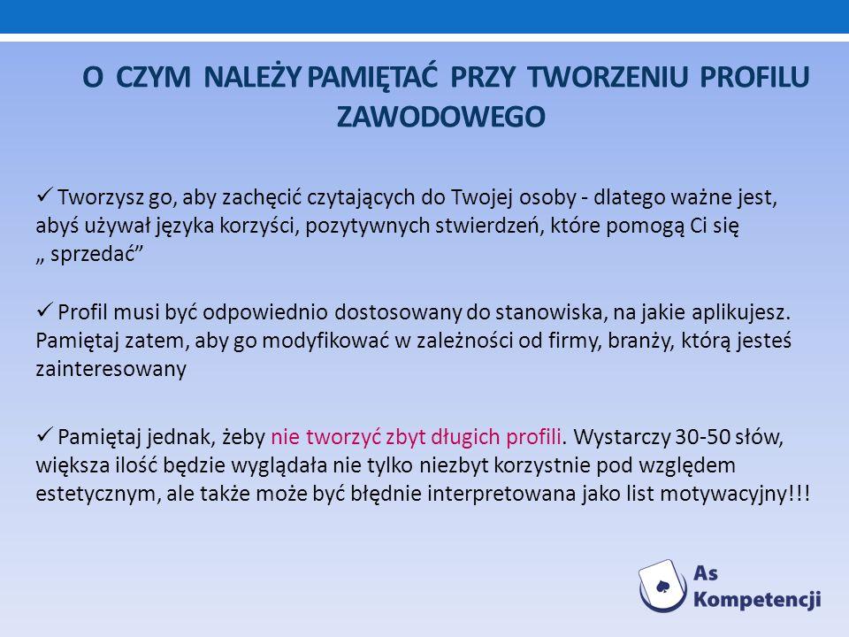 Źródła: http://www.architekcikariery.pl http://www.kariera.pl http://artykuly.com.pl http://www.bazacv.yoyo.pl