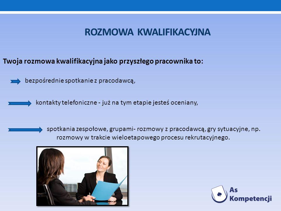 ROZMOWA KWALIFIKACYJNA kontakty telefoniczne - już na tym etapie jesteś oceniany, Twoja rozmowa kwalifikacyjna jako przyszłego pracownika to: bezpośre