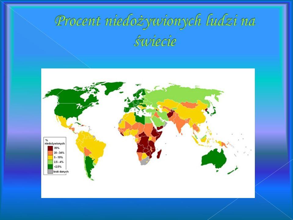Eksplozja demograficzna w krajach rozwijających się Wolne tępo rozwoju rolnictwa Konflikty zbrojne Klęski żywiołowe Niesprawiedliwy podział żywności B