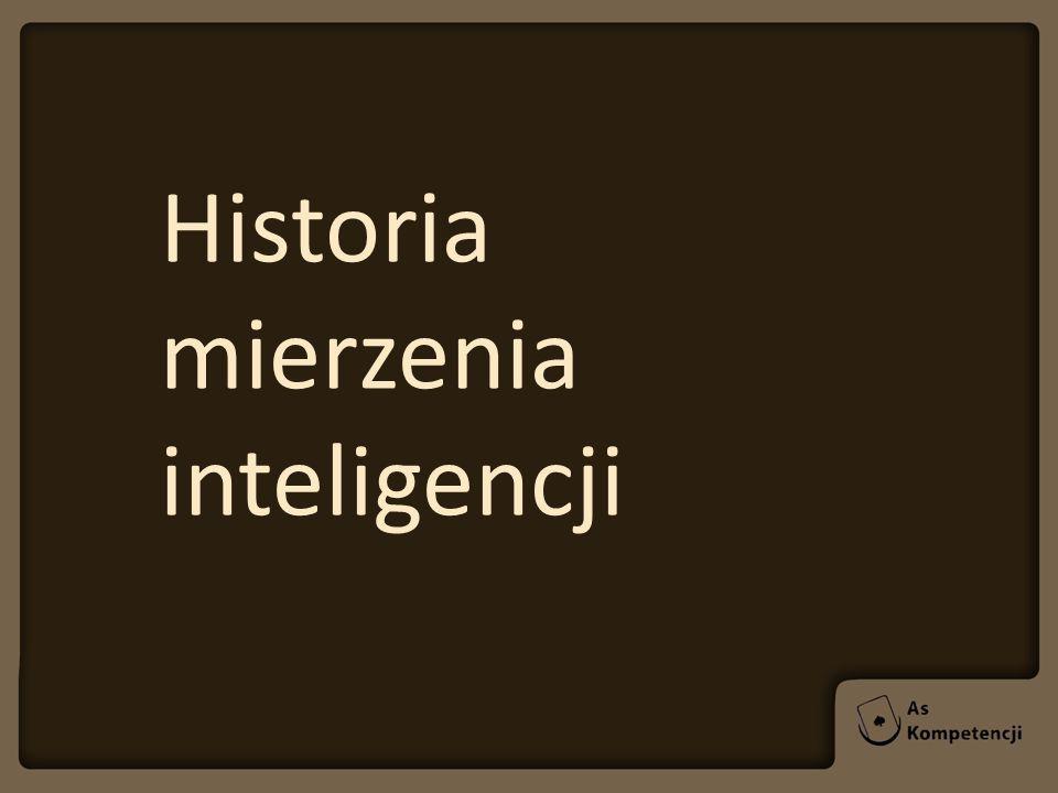Historia mierzenia inteligencji