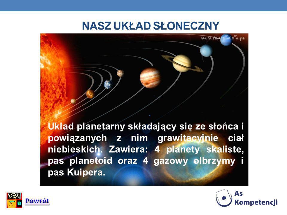 Układ planetarny składający się ze słońca i powiązanych z nim grawitacyjnie ciał niebieskich. Zawiera: 4 planety skaliste, pas planetoid oraz 4 gazowy