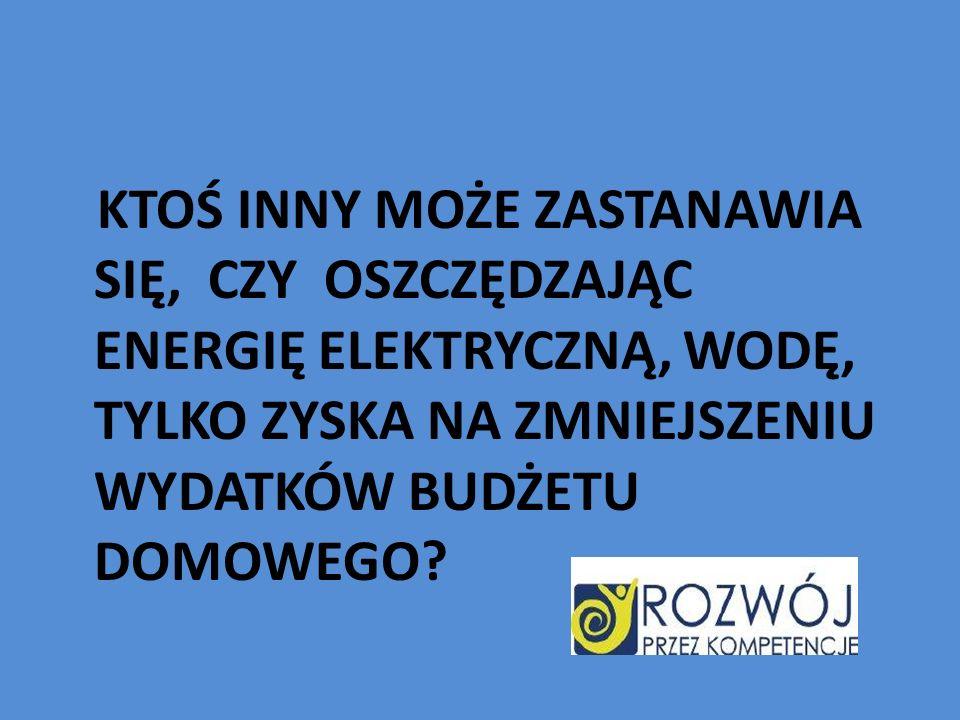 Dlaczego musimy oszczędzać energię.Odpowiedź jest prosta: żeby zapasy energii starczyły na dłużej.
