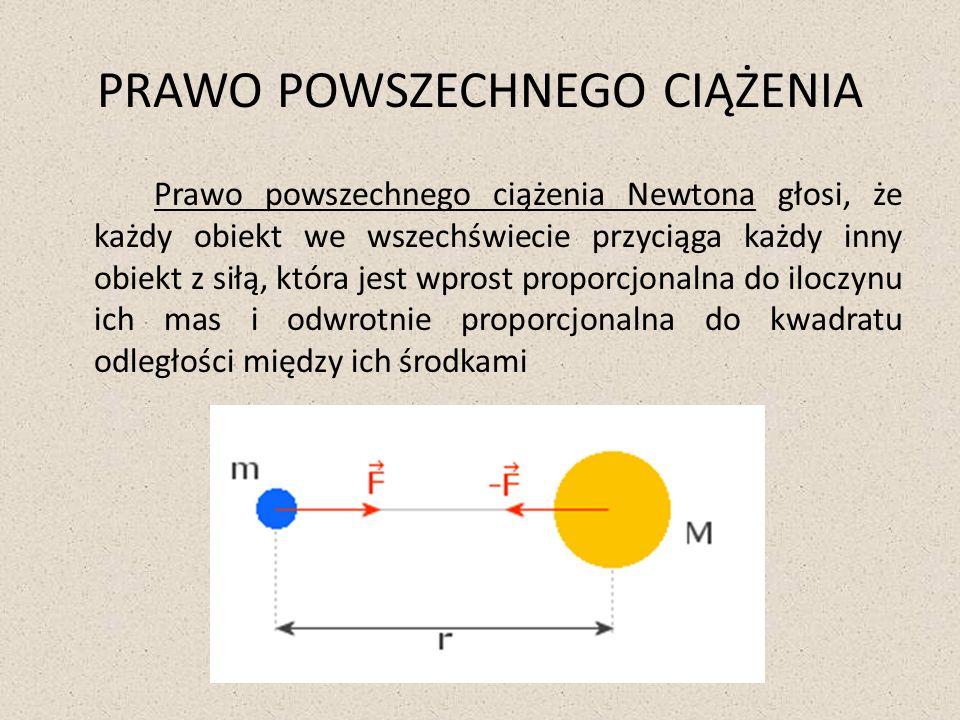 Newtona interesowało czy z takim rodzajem oddziaływania mamy do czynienia również we wszechświecie.