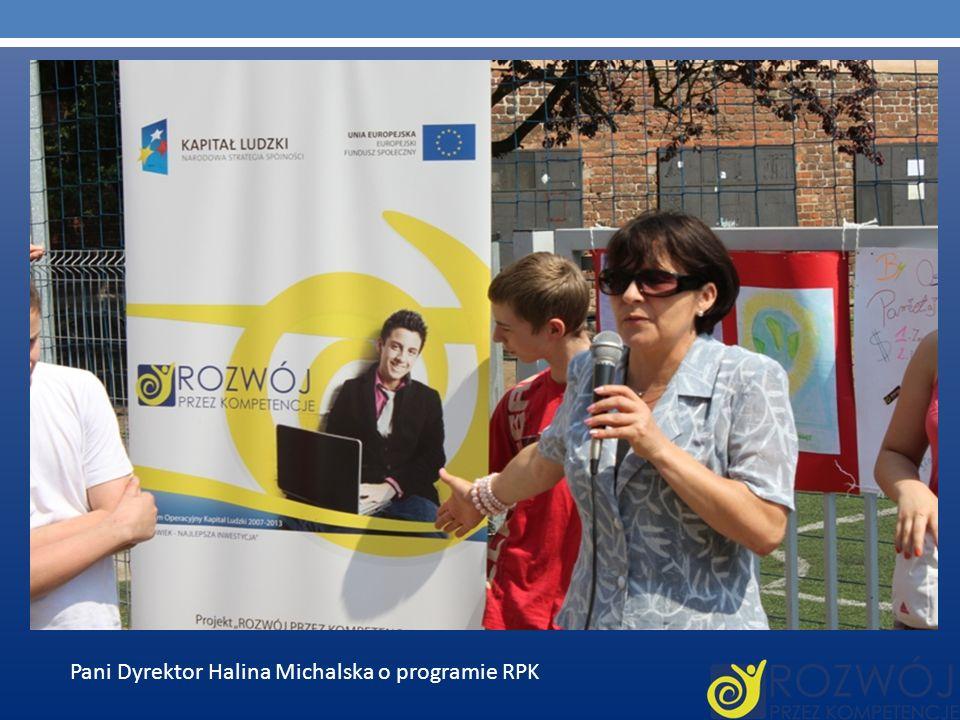 Pani Dyrektor Halina Michalska o programie RPK
