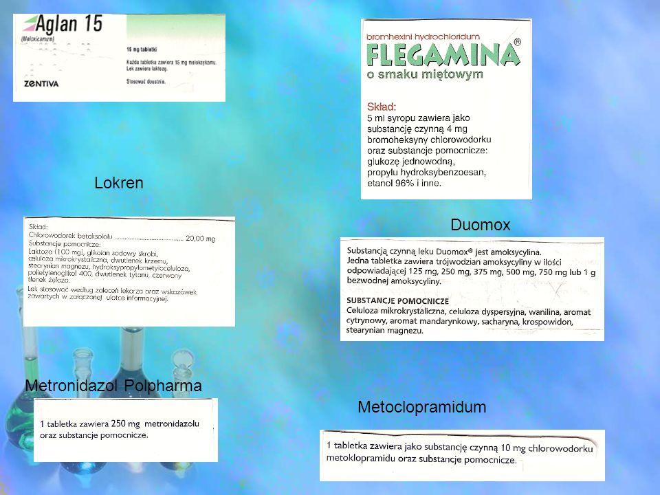 Metronidazol Polpharma Lokren Duomox Metoclopramidum