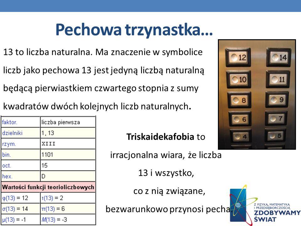 Pechowa trzynastka… 13 to liczba naturalna.