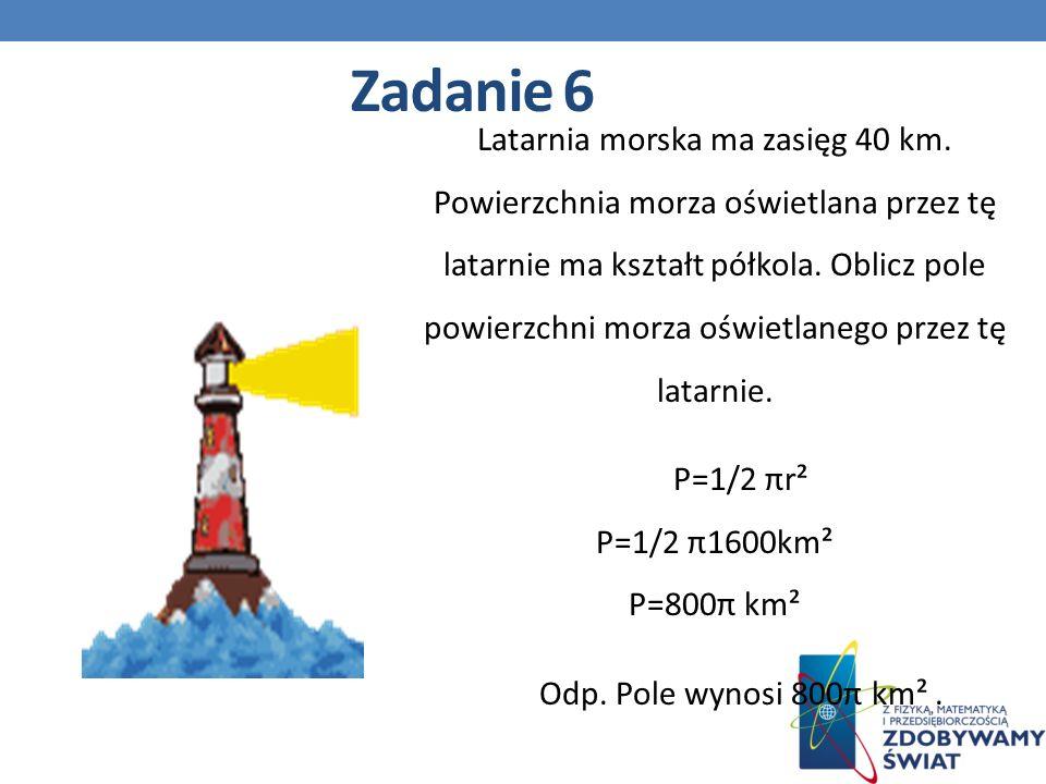Latarnia morska ma zasięg 40 km.