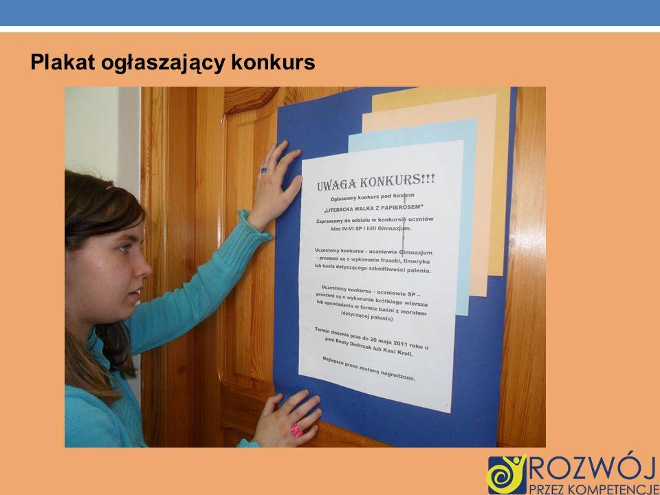 Plakat ogłaszający konkurs