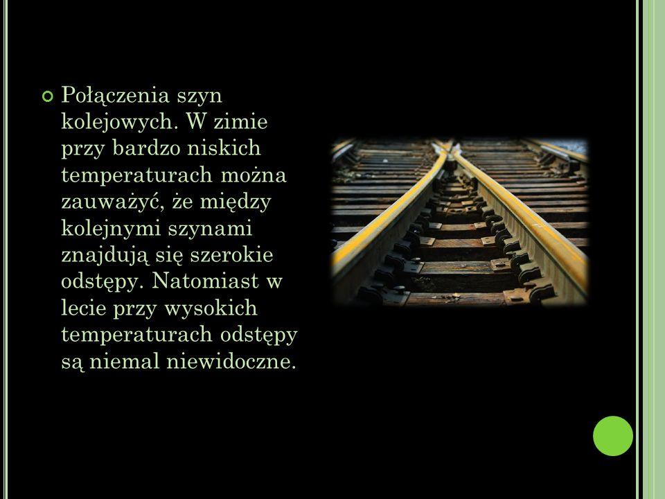 Połączenia szyn kolejowych.