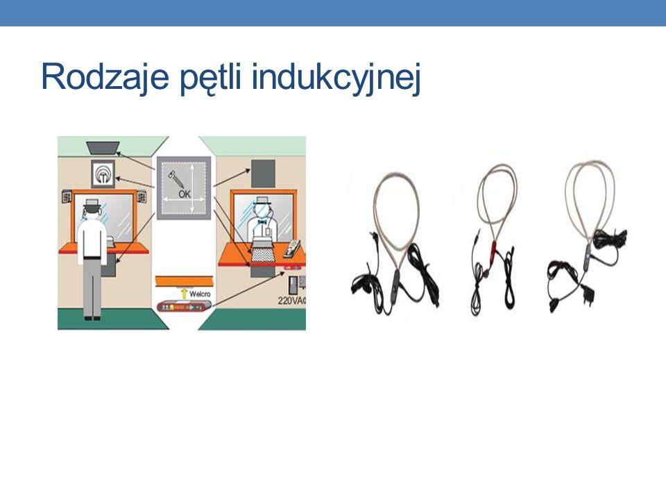 Pętla indukcyjna System nagłośnieniowy w częstotliwości słyszalnej z pętlą indukcyjną działa w oparciu o przesyłanie wzmocnionego sygnału dźwiękowego do aparatów słuchowych