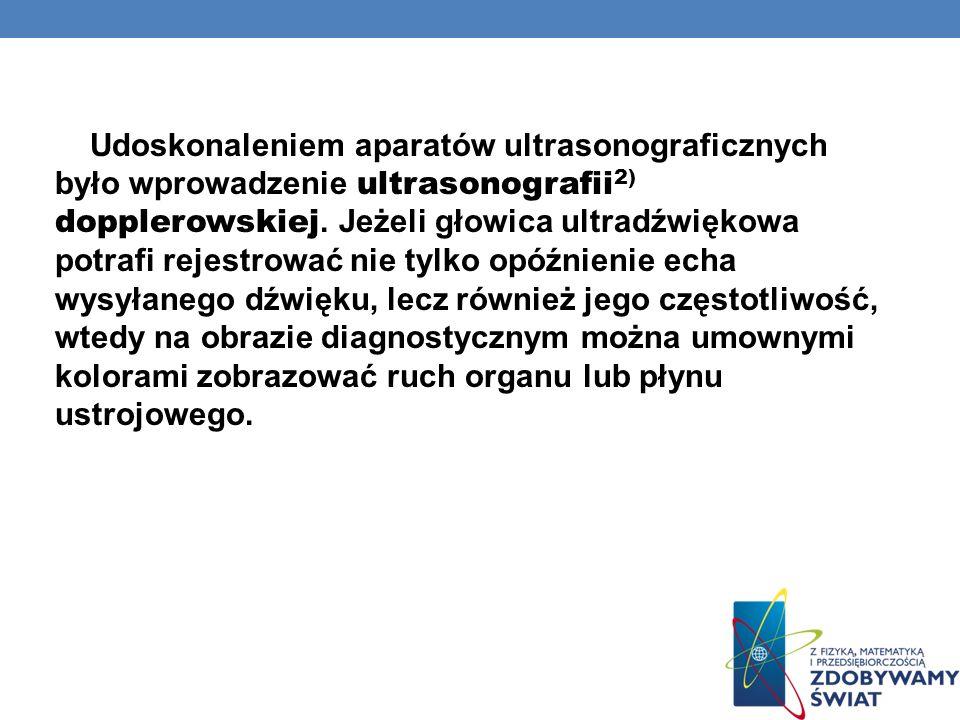 METODA LASEROWO- DOPPLEROWSKIEGO POMIARU UKRWIENIA SKÓRY Efekt Dopplera wykorzystywany jest także w metodzie laserowo-dopplerowskiego pomiaru ukrwienia skóry, która pozwala na nieinwazyjny pomiar stopnia ukrwienia tkanek skóry właściwej przy diagnozowaniu takich schorzeń jak cukrzyca czy zespół Raynauda 1).