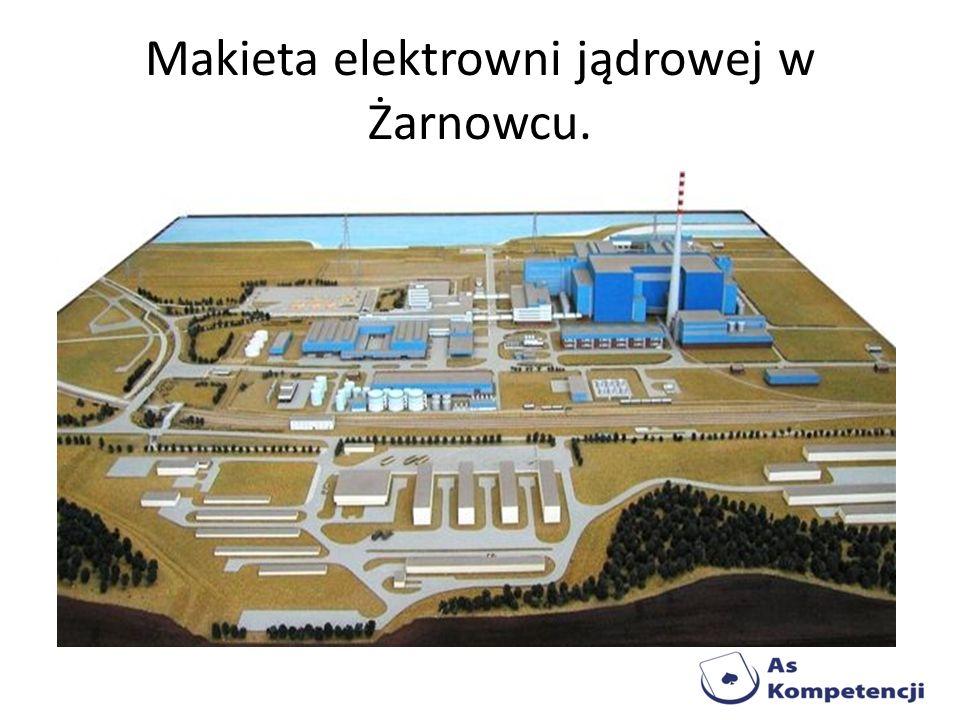 Makieta elektrowni jądrowej w Żarnowcu.