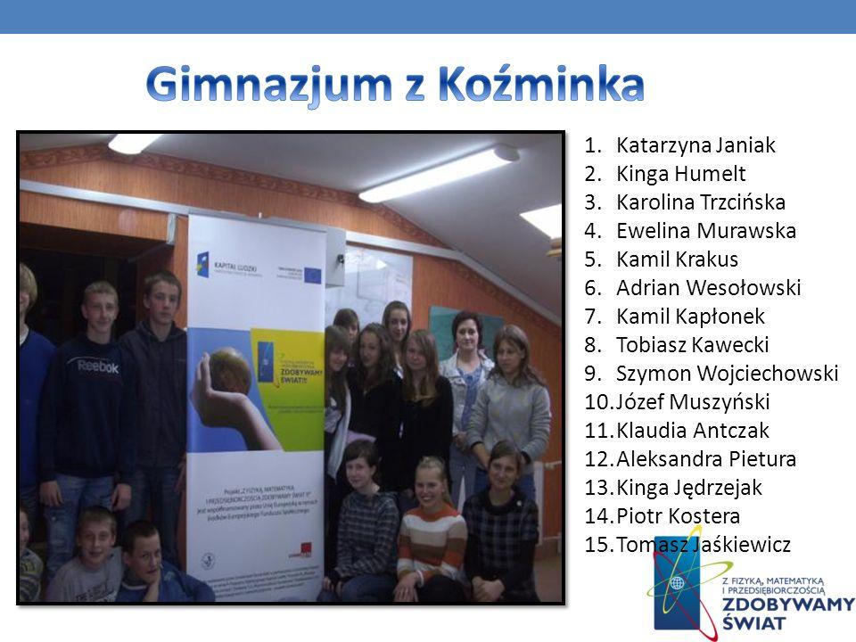 Nazwa szkoły: Gimnazjum im.Królowej Jadwigi we Wschowie ID grupy: 98/87_MF_G1 Opiekun: p.
