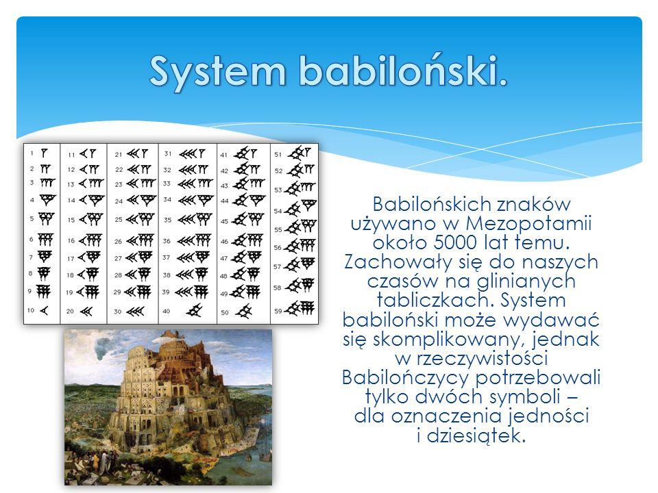 Babilońskich znaków używano w Mezopotamii około 5000 lat temu.