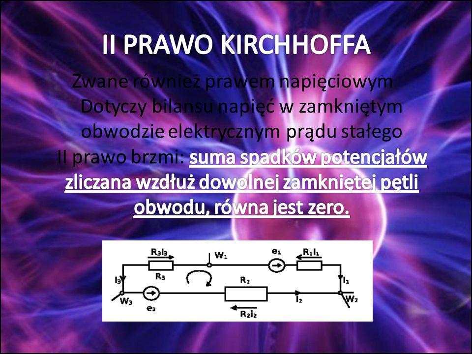 Oblicz natężenie prądów jakie przepływają przez opory: R 1 =10Ω i R 2 =5Ω.
