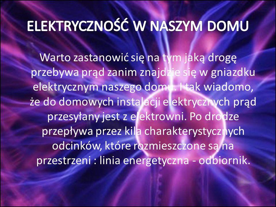 Najpierw od sieci elektrycznej prąd płynie przez tzw.