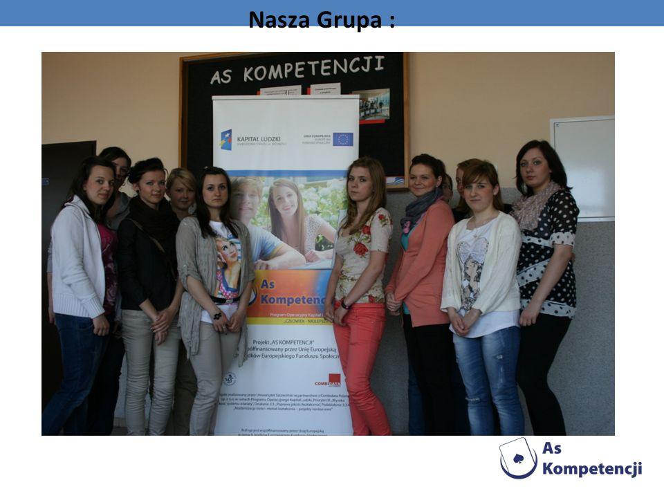 Naszą prezentację wykonaliśmy przy pomocy sprzętu otrzymany z projektu As kompetencji, który jest współfinansowany prze Unię Europejską w ramach środków Europejskiego Funduszu Społecznego.