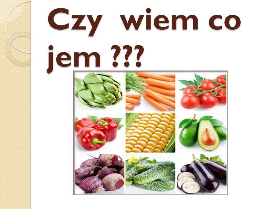 Czy wiem co jem ???
