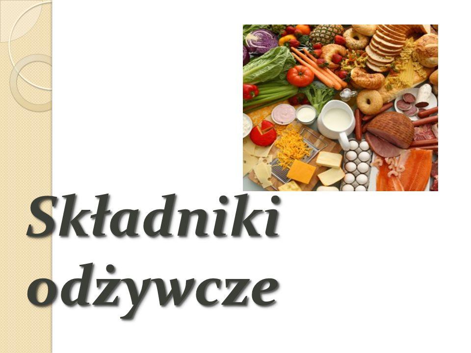 Składnikami odżywczymi nazywamy substancje, które są niezbędne dla życia, prawidłowego wzrostu i rozwoju oraz dla zapewnienia zdrowia organizmu.