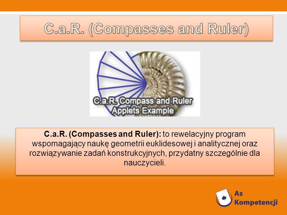 C.a.R. (Compasses and Ruler): to rewelacyjny program wspomagający naukę geometrii euklidesowej i analitycznej oraz rozwiązywanie zadań konstrukcyjnych