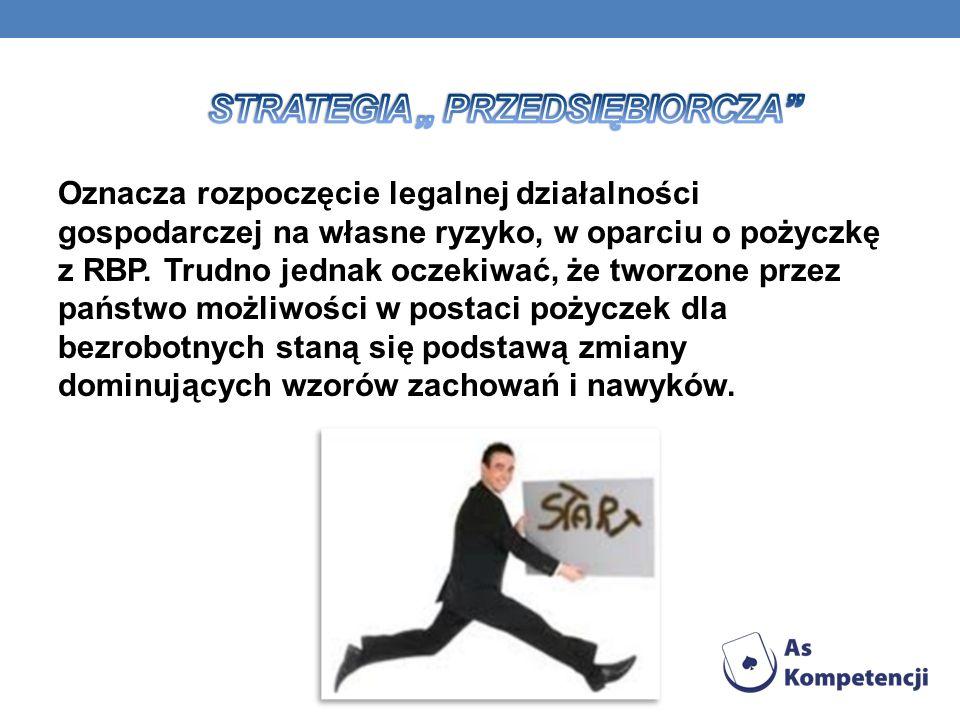 Oznacza rozpoczęcie legalnej działalności gospodarczej na własne ryzyko, w oparciu o pożyczkę z RBP.
