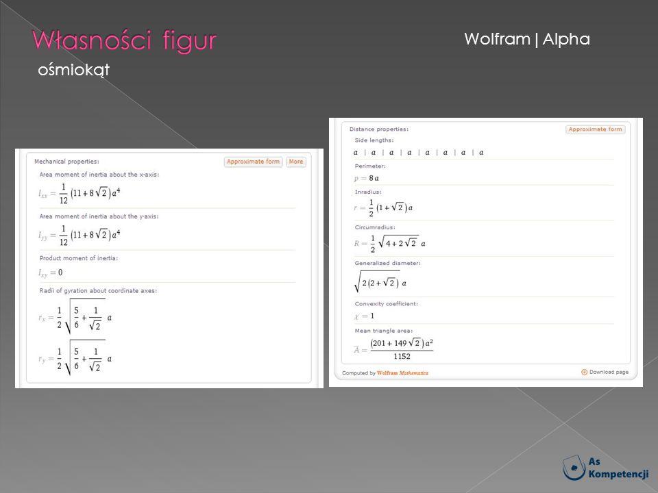 Wolfram|Alpha ośmiokąt