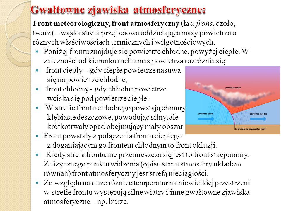 Front meteorologiczny, front atmosferyczny (łac. frons, czoło, twarz) – wąska strefa przejściowa oddzielająca masy powietrza o różnych właściwościach